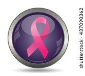 breast cancer ribbon icon.... | Shutterstock . vector #437090362