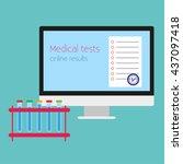 online test. vector...   Shutterstock .eps vector #437097418