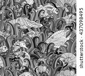 vector seamless pattern with...   Shutterstock .eps vector #437098495