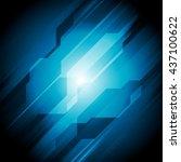 dark blue hi tech abstract... | Shutterstock . vector #437100622