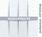 seamless pattern vector set.... | Shutterstock .eps vector #437103166