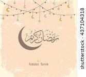 ramadan kareem greeting design... | Shutterstock .eps vector #437104318