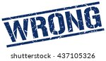 wrong stamp.stamp.sign.wrong. | Shutterstock .eps vector #437105326