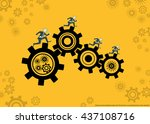 vector business and competitive ... | Shutterstock .eps vector #437108716
