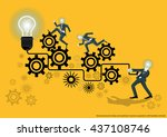 vector business for ideas and... | Shutterstock .eps vector #437108746