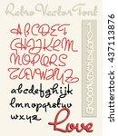 handwriting vector font | Shutterstock .eps vector #437113876