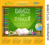 education infographics back to... | Shutterstock .eps vector #437114848