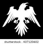 dark evil heraldic raven with... | Shutterstock .eps vector #437120602
