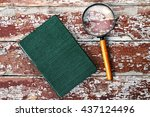 old magnifying glass or loupe... | Shutterstock . vector #437124496