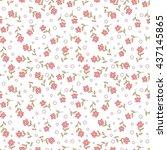 cute floral seamless pattern of ... | Shutterstock . vector #437145865