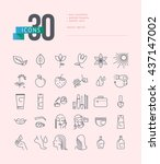 vector collection of flat... | Shutterstock .eps vector #437147002