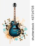 electric guitar with design... | Shutterstock .eps vector #43714735