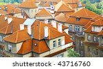 old tiled roofs of prague ... | Shutterstock . vector #43716760