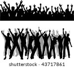 crowd silhouettes | Shutterstock .eps vector #43717861