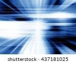 futuristic blue motion... | Shutterstock . vector #437181025