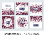 4th of july background set.... | Shutterstock .eps vector #437187028