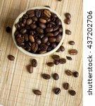 coffee beans  | Shutterstock . vector #437202706