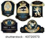 vector set  gold framed labels...   Shutterstock .eps vector #43720573