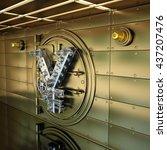 bank vault door. business...   Shutterstock . vector #437207476