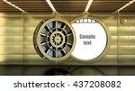 golden bank vault door. high... | Shutterstock . vector #437208082