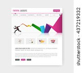 colorful website template in...