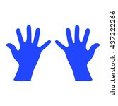 hand silhouette  vector...