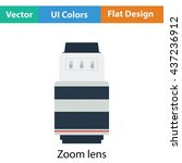 icon of photo camera zoom lens. ...