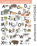 english animal alphabet from a...   Shutterstock .eps vector #437242462