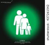 family icon vector art eps... | Shutterstock .eps vector #437261542