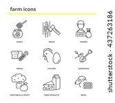 Farm Vector Icons Set  Honey ...