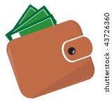 Wallet. Vector Illustration