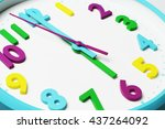 close up of colorful clock face ...   Shutterstock . vector #437264092