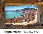 Split  Bay Aerial View Through...