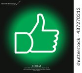 thumb up icon  vector... | Shutterstock .eps vector #437270212