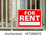 for rent sign posted in front... | Shutterstock . vector #437288692