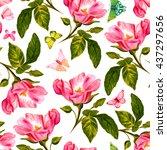 a seamless background pattern...   Shutterstock . vector #437297656