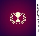trophy and awards icon. flat...