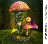 Elves Enchanted Mushrooms Plac...