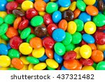 close up of a pile of colorful... | Shutterstock . vector #437321482