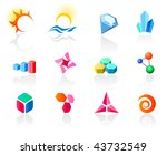 set of different icons  part 6 .... | Shutterstock .eps vector #43732549