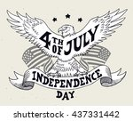 independence day of the united... | Shutterstock .eps vector #437331442