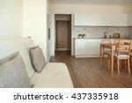 studio apartment interior | Shutterstock . vector #437335918