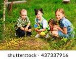 the children lead an active a...   Shutterstock . vector #437337916