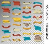 retro ribbon vintage... | Shutterstock .eps vector #437342722