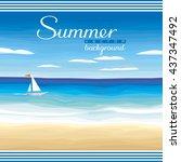 seascape vector background  ... | Shutterstock .eps vector #437347492
