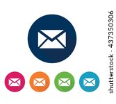 mail and message icons set. | Shutterstock .eps vector #437350306
