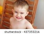 Portrait Of A Little Boy Kid...