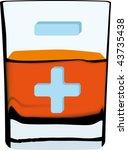 vector illustration of glass... | Shutterstock .eps vector #43735438