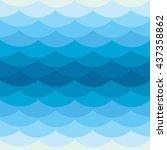 vector wavy pattern. abstract... | Shutterstock .eps vector #437358862