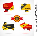 vector stickers  price tag ... | Shutterstock .eps vector #437362096